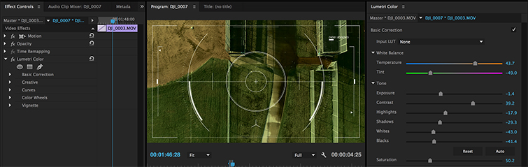 Traditional Camera Moves Made Easy with DJI Drones - Drone Overlay Color