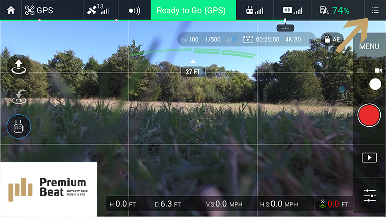 Traditional Camera Moves Made Easy with DJI Drones - EXP Settings