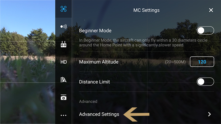 Traditional Camera Moves Made Easy with DJI Drones - EXP Advanced Settings
