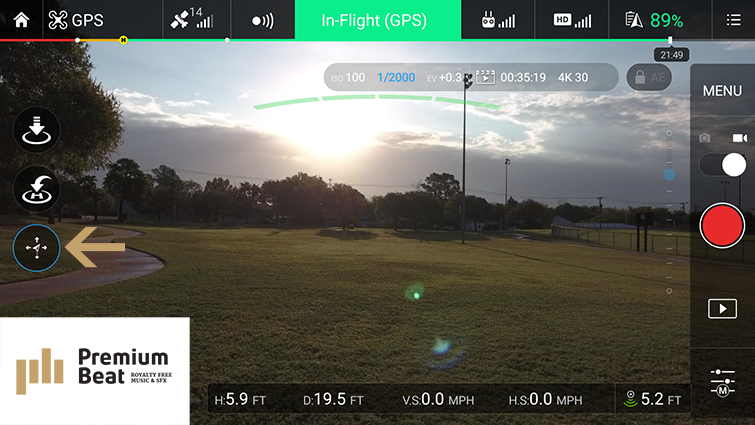 Traditional Camera Moves Made Easy with DJI Drones - Course Lock Mode