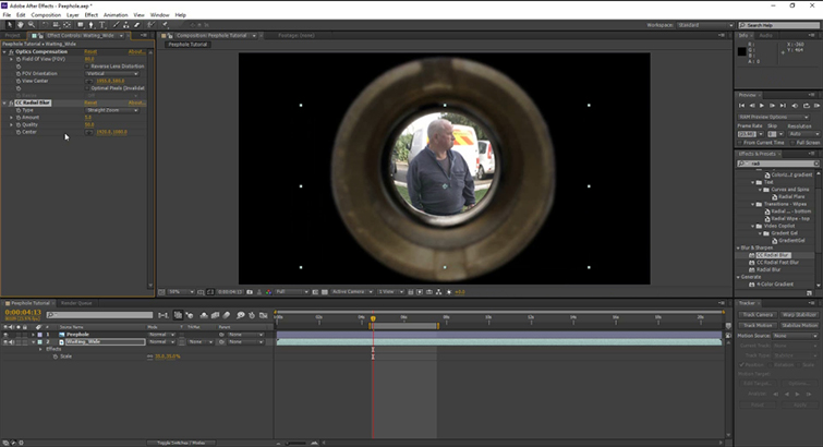 Video Tutorial: Create A Peephole POV in After Effects — In Progress