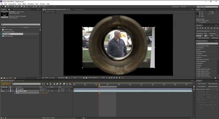 Video Tutorial: Create A Peephole POV in After Effects — Peephole
