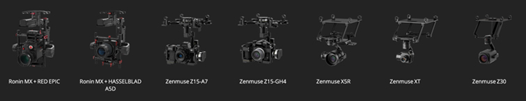 DJI Announces Three New Professional Video Drones: Gimbals