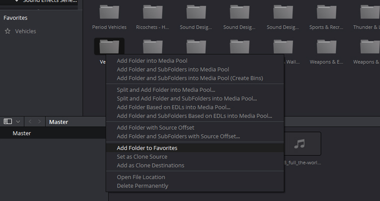 Speed Up Your Editing In Resolve With These Quick Tips — Favorites Folder
