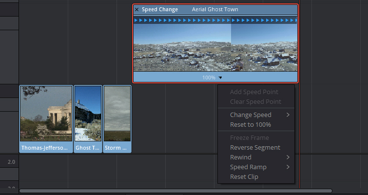 Speed Change Techniques In Resolve 12.5 — Clip Speed Menu