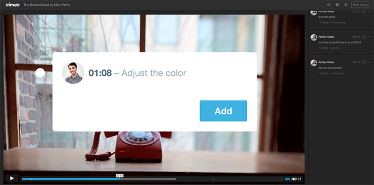 Vimeo Launches Built-in Video Review Tools