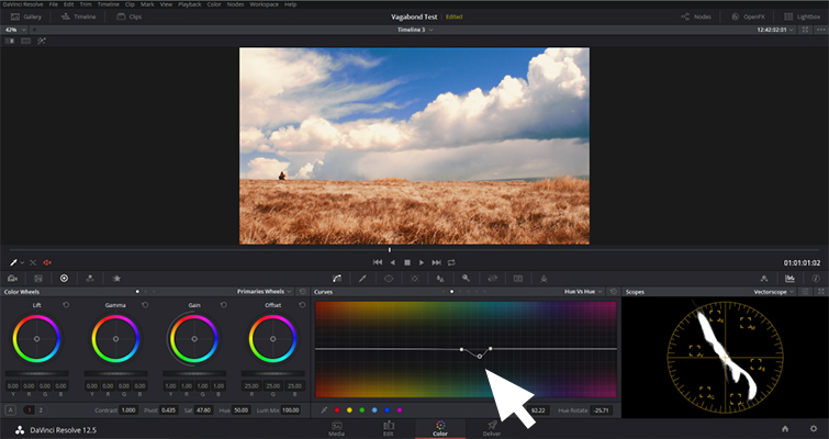 DaVinci Resolve: Enhance Your Sky in Under Five Minutes - Adjust Hue Curve