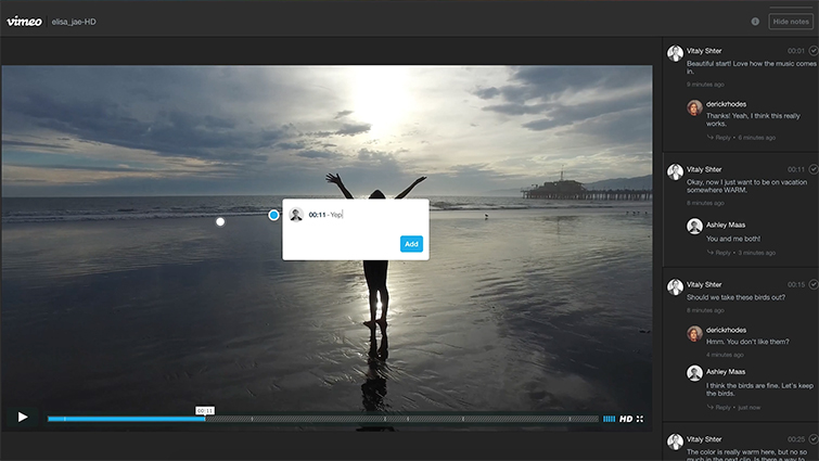 Vimeo Launches Built-in Video Review Tools: Leave Notes and Create To-Do Lists