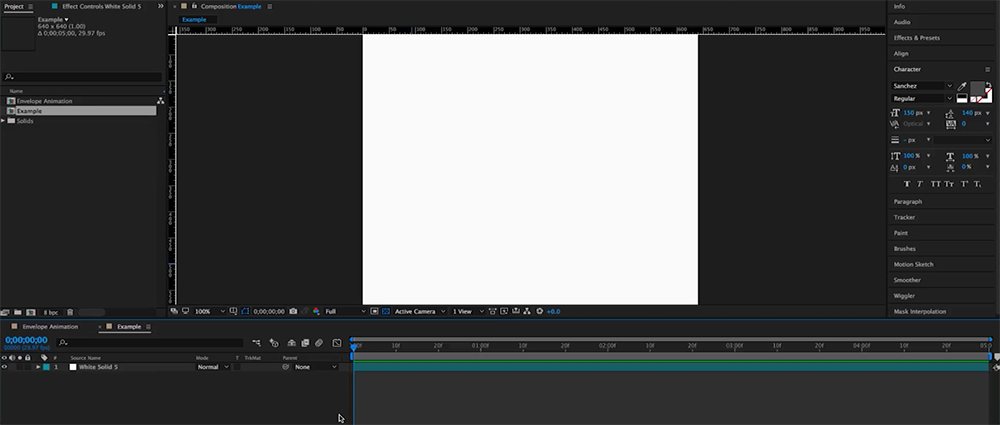 How to Create an Animated Envelope in After Effects — Step 1