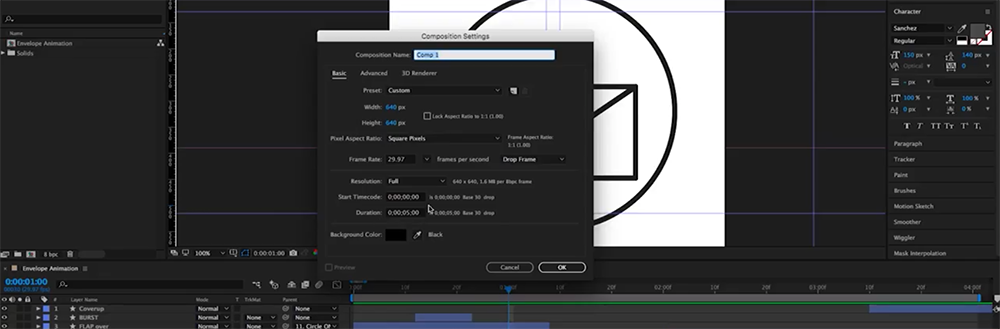How to Create an Animated Envelope in After Effects — Step 0