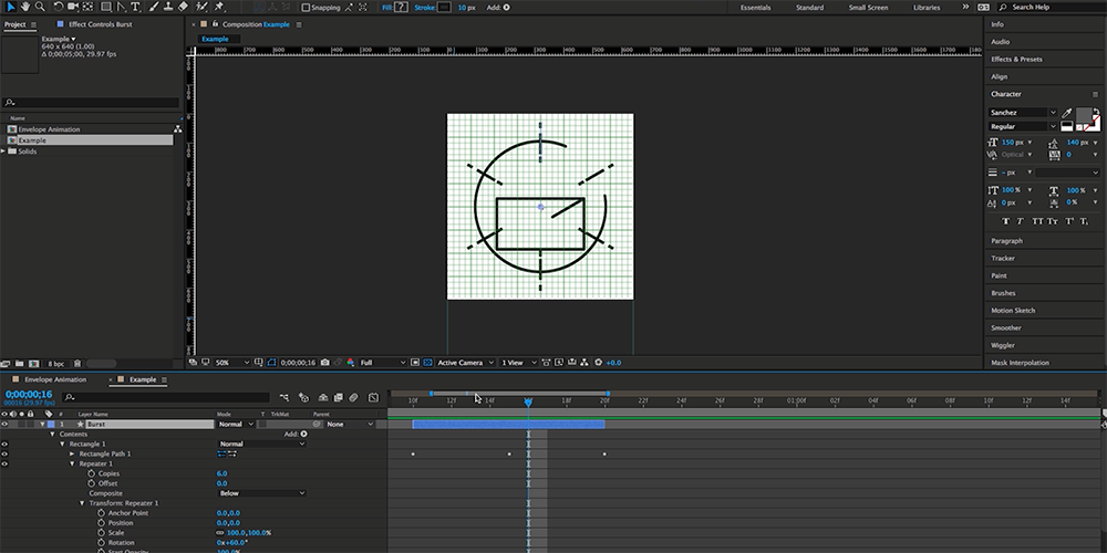 How to Create an Animated Envelope in After Effects — Step 8
