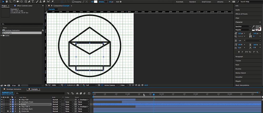 How to Create an Animated Envelope in After Effects — Step 6