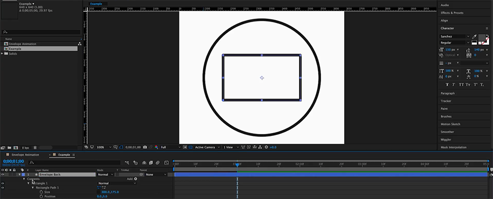 How to Create an Animated Envelope in After Effects — Step 3