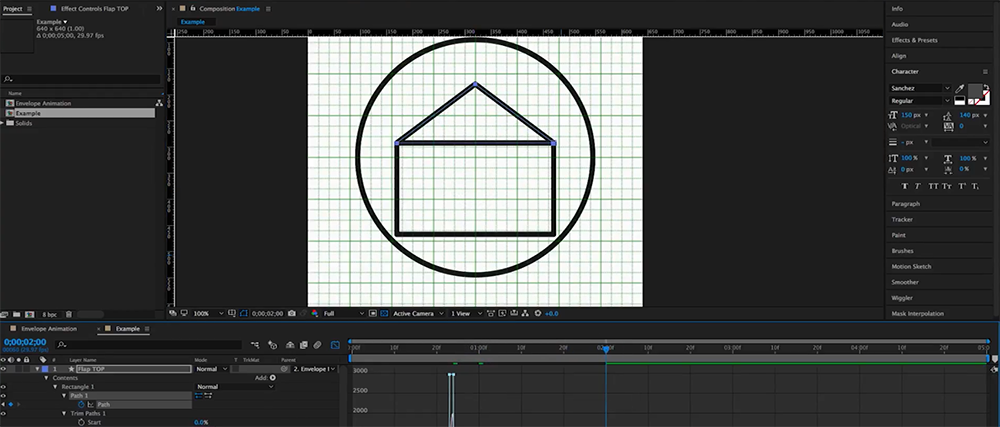 How to Create an Animated Envelope in After Effects — Step 4