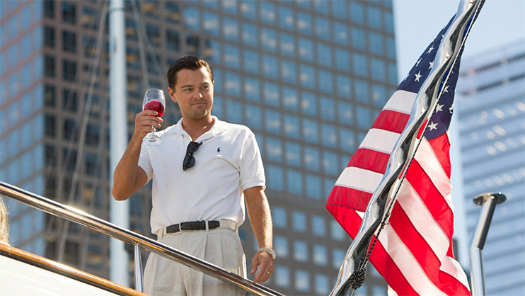 Composition Tactic: Intersecting Background Objects — The Wolf of Wall Street