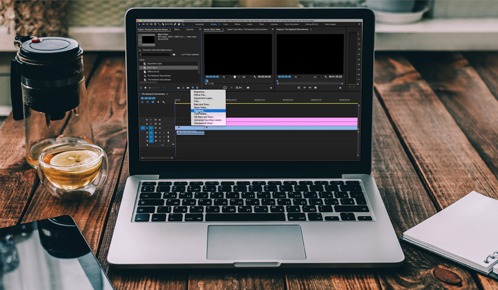 Premiere Pro's New Item Button and What It Can Do For You
