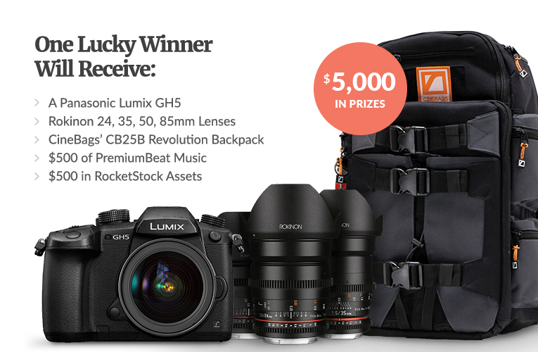 Win a GH5 and More From PremiumBeat! Almost $5,000 in Prizes! — Prize Pack