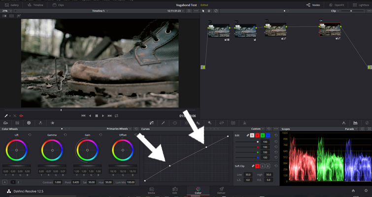 The Basics of Color Correcting With Curves — Adjacent Control Points