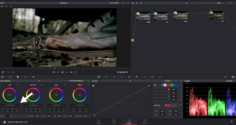 The Basics of Color Correcting With Curves — Lift Controls