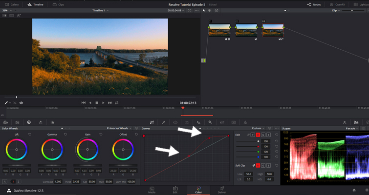 The Basics of Color Correcting With Curves — Midtones Control