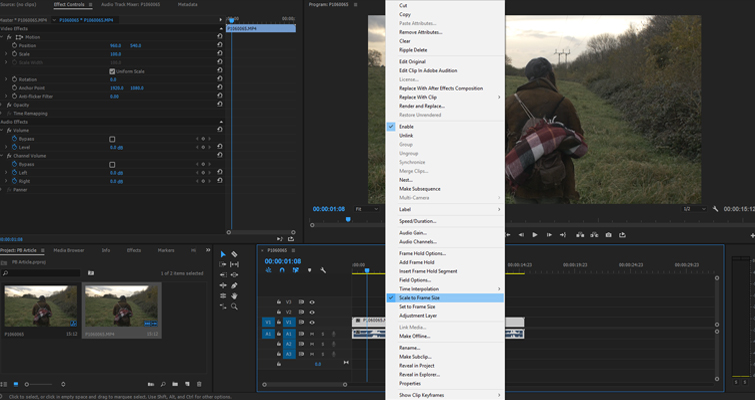 4 Premiere Pro Tips to Save Time — Import Size
