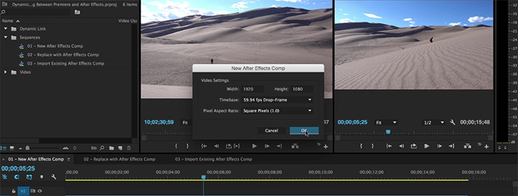 Create a Simple Motion Graphics Workflow With Premiere Pro and After Effects — New Composition