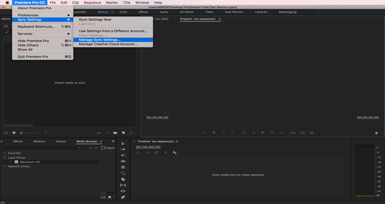 How to Set or Recall Preference Settings in Adobe Premiere Pro — 1