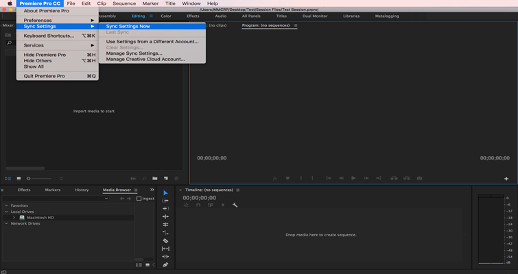 How to Set or Recall Preference Settings in Adobe Premiere Pro — 3