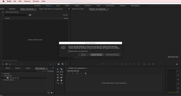 How to Set or Recall Preference Settings in Adobe Premiere Pro — 8
