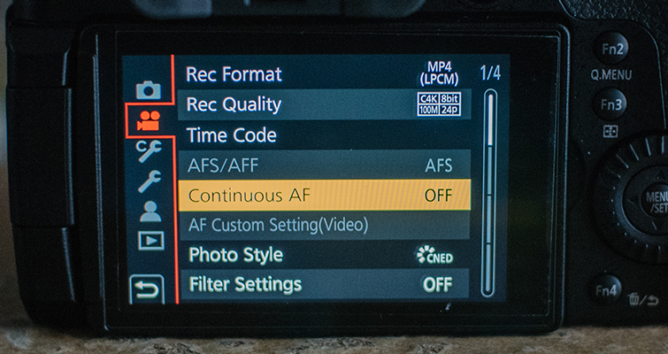 Best Video Settings for the GH5 — Continuous AF