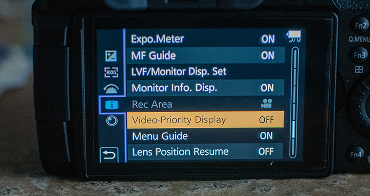 Best Video Settings for the GH5 — Video Priority Display