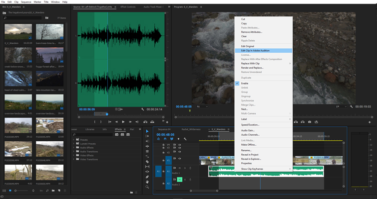 Quickly Send FLAC Files From Audition To Premiere Pro — Edit Clip