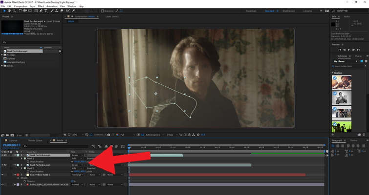 Add Volumetric Lighting in After Effects Without a 3rd-Party Plugin u2014 Adjust Light Particles & Add Volumetric Lighting in After Effects Without a 3rd-Party Plugin