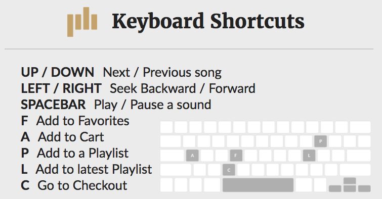 6 Tricks for Finding the Perfect Soundtrack for Your Video — Keyboard Shortcuts