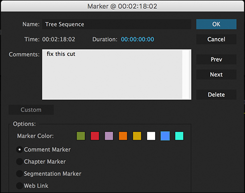 Premiere Pro Tutorial: Organizing Your Project with Markers — Marker