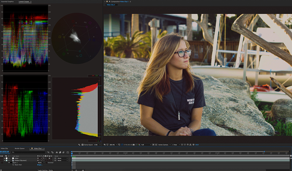 Color Correcting Video with Lumetri Scopes in After Effects