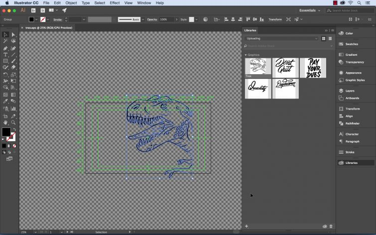 Create Vector Graphics for After Effects Using the Adobe Capture App — Save as Vector