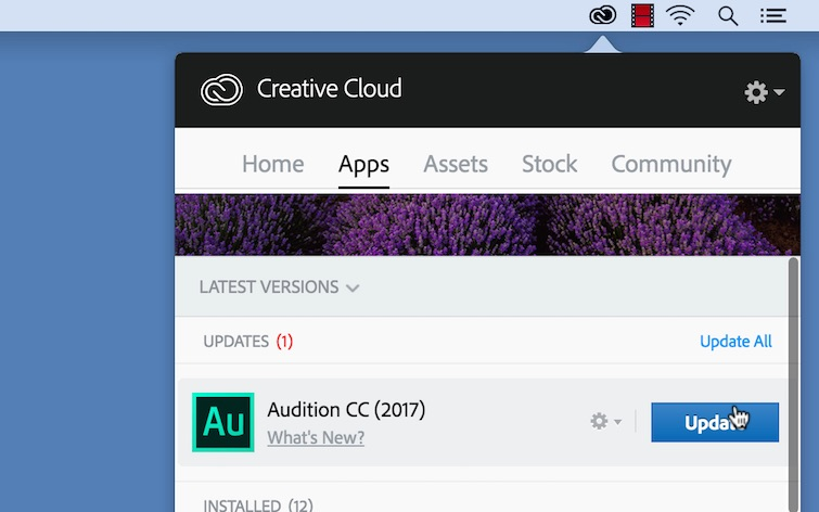 Manage Project Files and Assets Online in the Creative Cloud — Desktop App