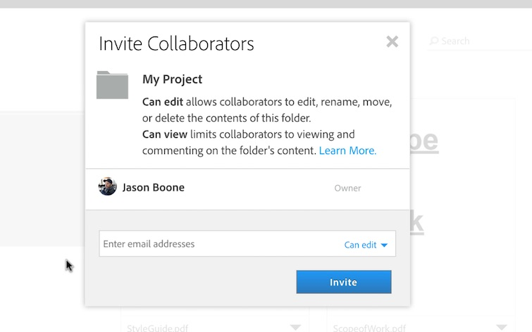 Manage Project Files and Assets Online in the Creative Cloud — Share and Collaborate