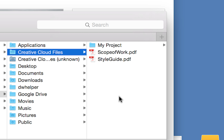 Manage Project Files and Assets Online in the Creative Cloud — Desktop Management