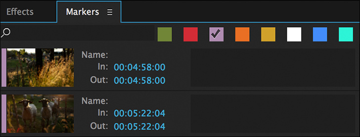 Premiere Pro Tutorial: Organizing Your Project with Markers — Marker Panel