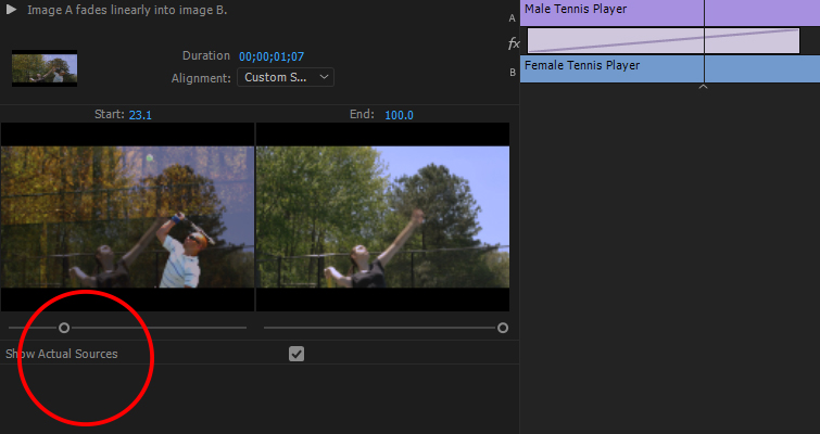 Take Control Of Your Transitions with The Effects Panel — Start and End Sliders