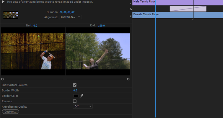 Take Control Of Your Transitions with The Effects Panel — Checkerboard Wipe