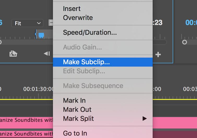 Make a Subclip