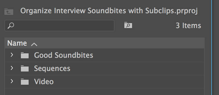 Organize Your Interviews Using Subclips in Premiere Pro — Get Organized