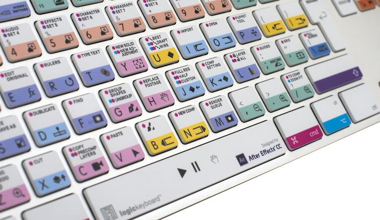 Logickeyboard After Effects 2017