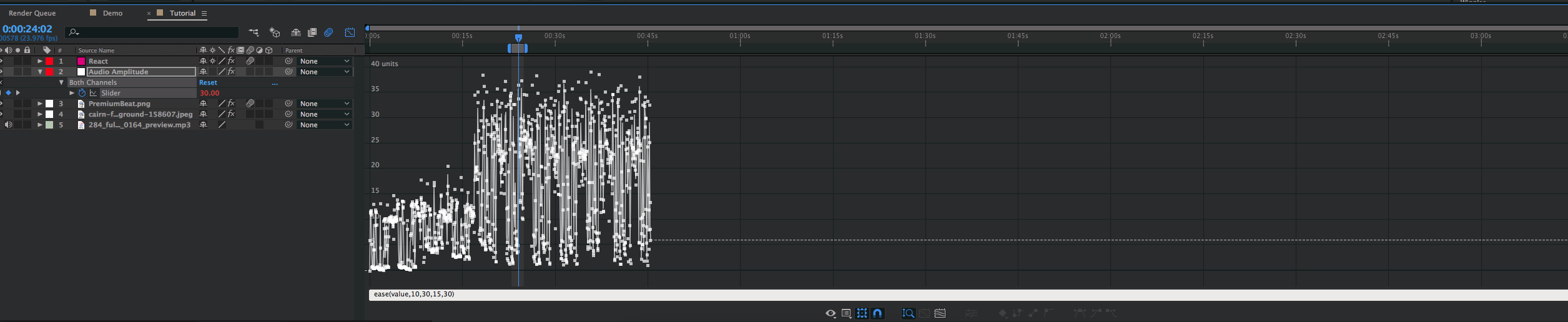 How to Create Audio Reaction Effects — Graph Editor