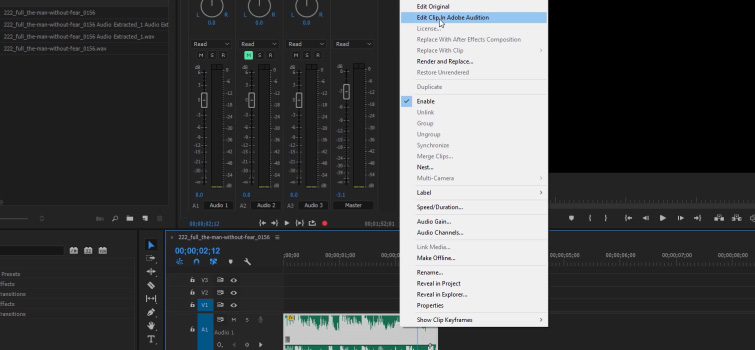 End Music Cuts with Natural Reverb — Edit in Audition