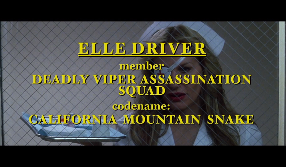 Stylize Your Storytelling with Character Title Cards — Kill Bill