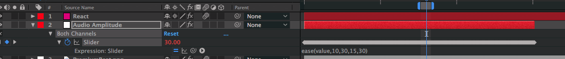 How to Create Audio Reaction Effects — Both Channels Slider